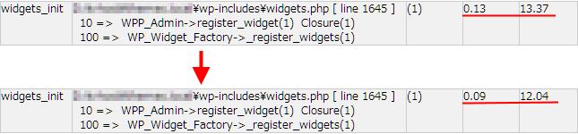 widget_init の処理速度計測