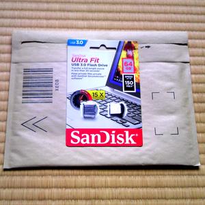 SANDISK USB3.0フラッシュ 64GB SDCZ43-064G