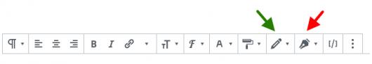 蛍光ペンボタンの選択画面