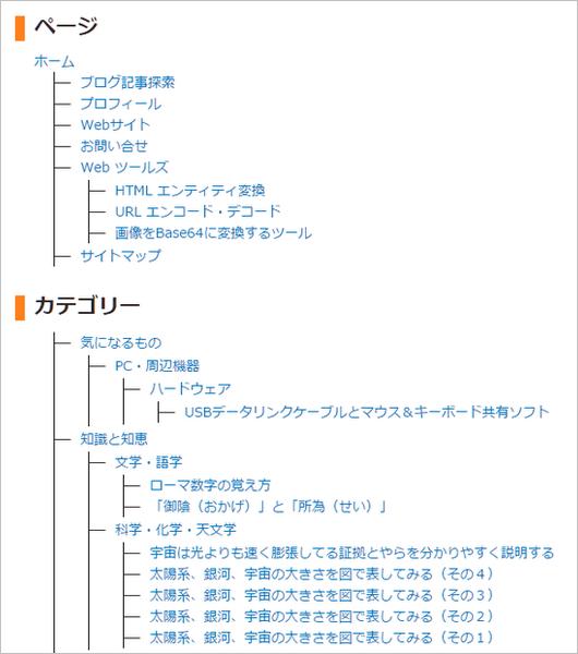 サイトマップのイメージ図